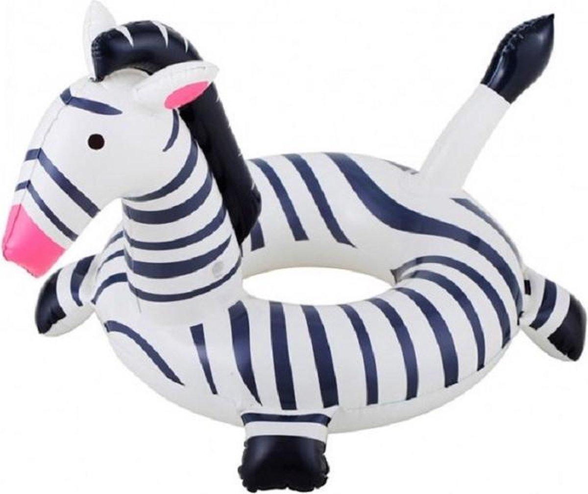 Opblaasbare zebra zwemband 61 cm - Zwembenodigdheden - Zwemringen - Dieren thema - Zebra zwembanden voor kinderen