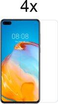 Huawei P40 Screenprotector - 4 x Tempered Glass Screen Protector