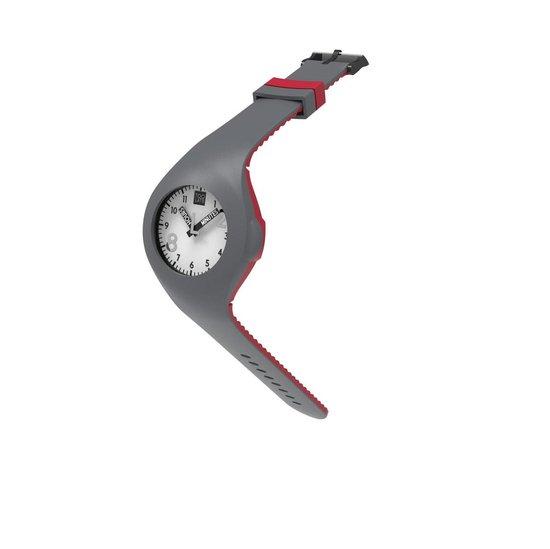 TOO LATE - siliconen horloge - MASH UP BICOLOR - Ø 40 mm - DARK GREY RED