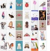 Angelart Kunstkaarten - Wenskaarten set - 30 stuks- Blanco- Ansichtkaarten