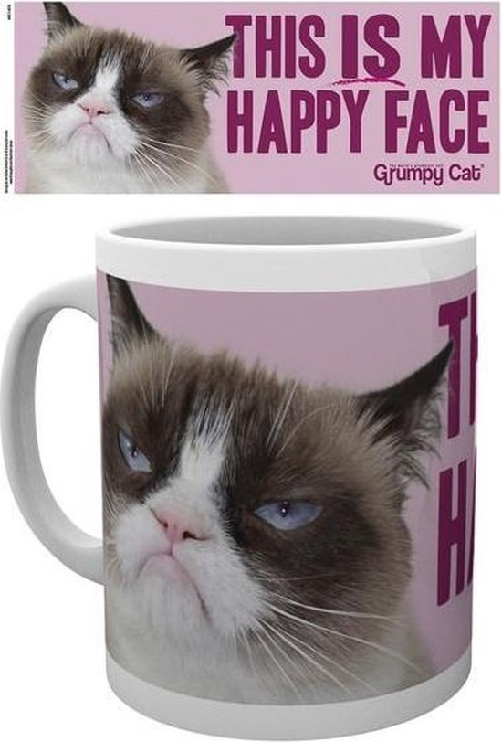 Grumpy Cat Happy Face Mok