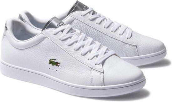 Lacoste Sneakers - Maat 42.5 - Mannen - wit/zilver