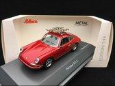 """Porsche 911 S """"Ski"""" Rood 1-43 Schuco Limited 750 Pieces"""