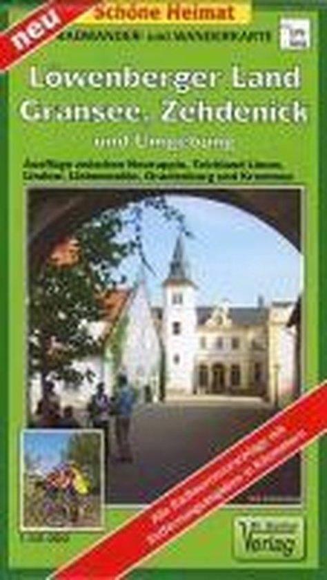 Löwenberger Land, Gransee, Zehdenick und Umgebung. Radwander- und Wanderkarte 1 : 50 000