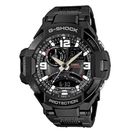 Casio G-Shock GA-1000FC-1AER - Horloge -Kunststof - Zwart - 52 mm