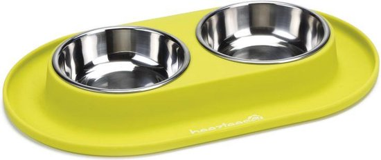 Beeztees - Dinerset Hond - Siliconen - Groen - 31x19 cm