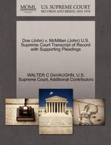 Doe (John) V. McMillan (John) U.S. Supreme Court Transcript of Record with Supporting Pleadings