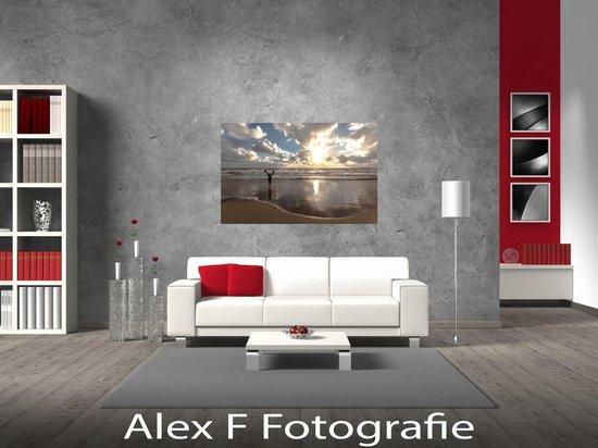 Foto op Canvas, Groet de Zon  (120x70cm)