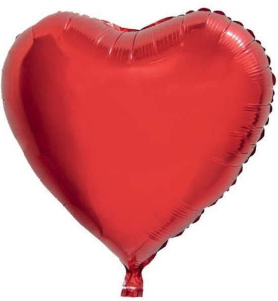 Folie helium ballon rood hart 75cm