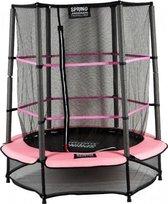 SPRING Trampoline - 140 cm met veiligheidsnet - Black Edition - roze rand