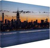 New York City Canvas 60x40 cm - Foto print op Canvas schilderij (Wanddecoratie woonkamer / slaapkamer) / Steden Canvas Schilderijen
