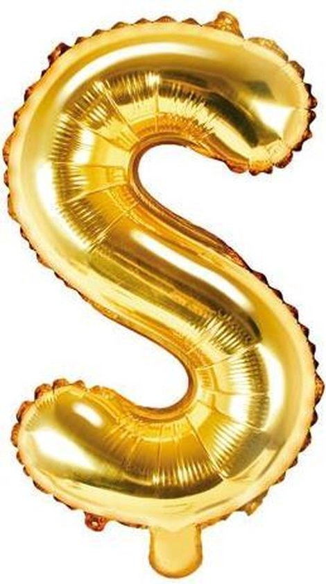 Folie ballon Letter S, 35cm, goud