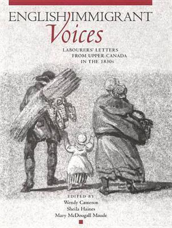 Boek cover English Immigrant Voices van Wendy Cameron (Hardcover)