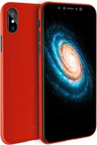 Let op type!! ROCK for   iPhone X / XS   Untra-thin Soft PP Frosted Protective Back Case (Red)