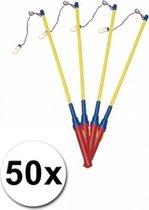 Lampionstokjes - Pakket met 50 lampion stokjes met lichtje