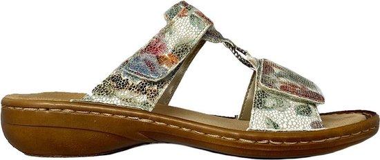 Multi Color Rieker Slippers