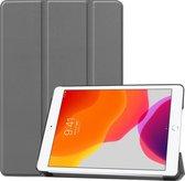iPad 2020 hoes - iPad hoes 2020 - iPad 2020 hoes 10.2 - hoes iPad 2020 - hoesje iPad 2020 - iPad 2020 case - Kunstleer - Grijs - iMoshion Trifold Bookcase