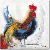 Schilderij - De kip