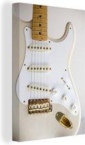 Doorsnede van een elektrische gitaar Canvas 80x120 cm - Foto print op Canvas schilderij (Wanddecoratie woonkamer / slaapkamer)
