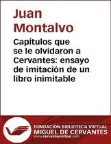 Capítulos que se le olvidaron a Cervantes: ensayo de imitacion de un libro inimitable