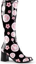 Funtasma Kniehoge laarzen -35 Shoes- GOGO-300FL US 5 Zwart/Roze