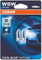 Osram Cool Blue Intense Halogeen lampen - T10 - 12V/5W - set à 2 stuks