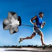 Duo Bakkersport Weerstand Parachute 105CM - Sprint Hardloop training - Fitness - Zwart