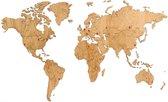 MiMi Innovations Exclusieve Houten Wereldkaart - Muurdecoratie - 130x78 cm/51.2x30.8 inch - Eiken