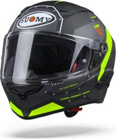 Suomy Speedstar Airplane Matt Grey Yellow Full Face Helmet XL