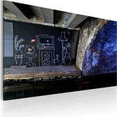 Schilderijen Op Canvas - Schilderij - My own piece of floor (Banksy) 60x40 - Artgeist Schilderij