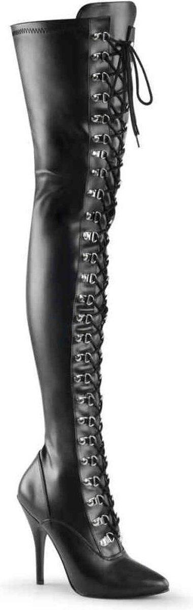 Pleaser Pleaser Overknee Boots SEDUCE3063 Black | Attitude
