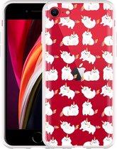 iPhone SE 2020 Hoesje Unicorn Cat