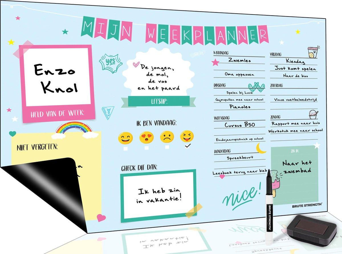 Magnetisch Weekplanner whiteboard (40) - A3 - Planbord - Dagplanner kind - To Do Planner kinderen