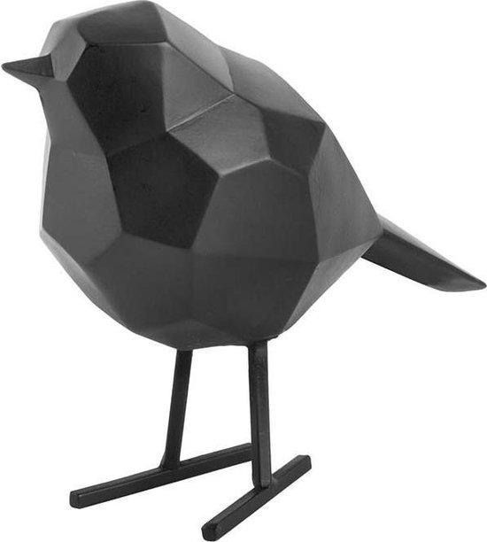 Statue bird small polyresin matt black