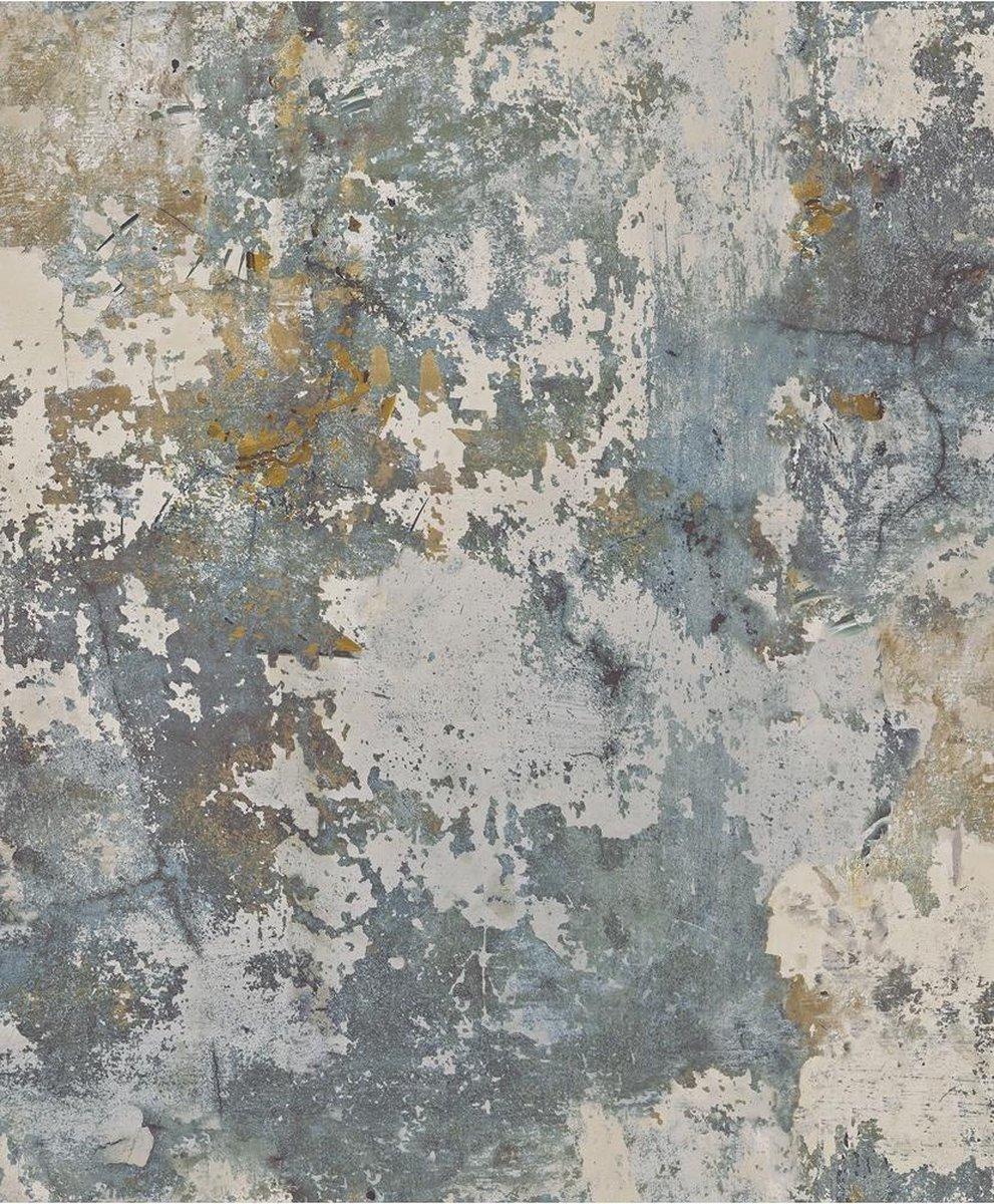 Exposure betonlook grijs/groen effen (vliesbehang, multicolor) EP3001