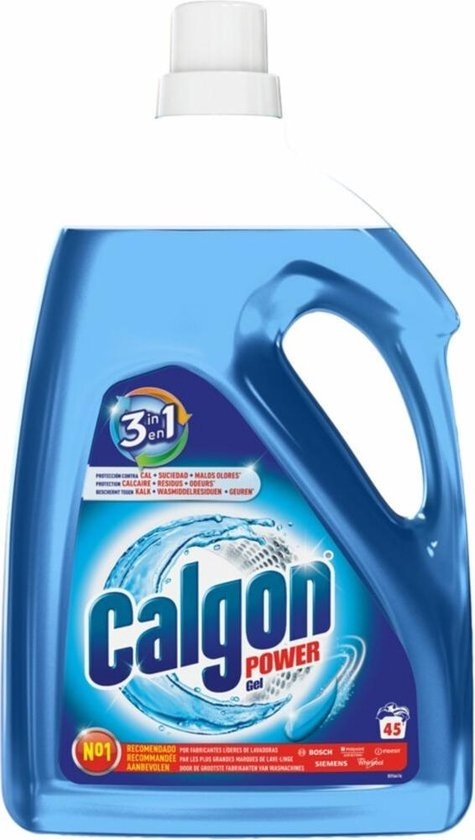 Calgon Wasmachine 3 in 1 Power Gel Reiniger en Anti kalk - 45 Wasbeurten - 2,25 L