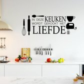 Bol Com Keuken Muursticker Perfecte Muursticker Voor In Uw Keuken Kitchen Decoratie Muur