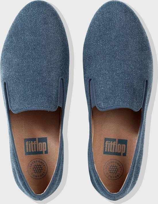 Fitflop™ Superskate™ Loafers Shimmer Denim Blue Shimmer-denim - Maat 36 3q1VBm