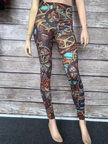 jtb-store - high waist sport legging yogalegging dames  - fantasy print  - maat S