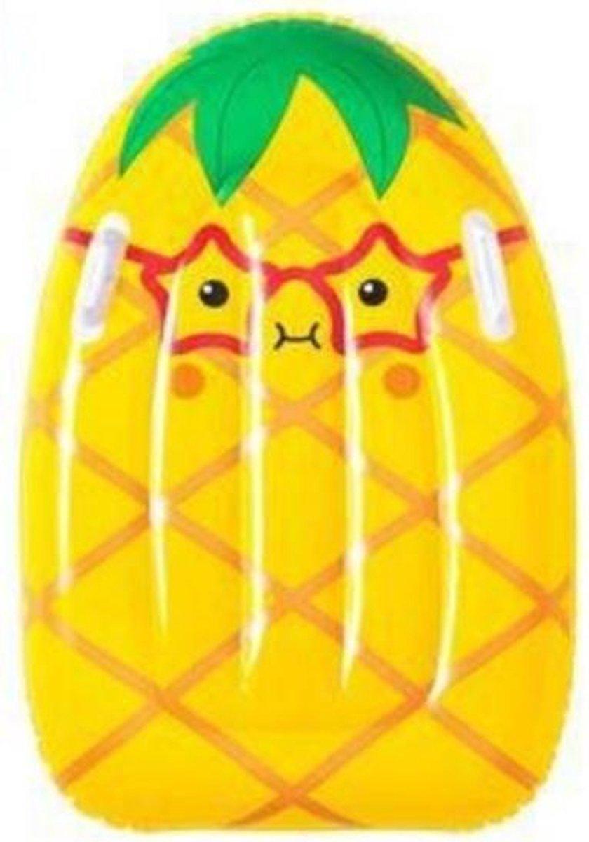 luchtbed ananas junior 80 x 52 cm vinyl geel