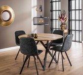 Ronde tafel Edison Eikenlook 120 cm - Inclusief Montage