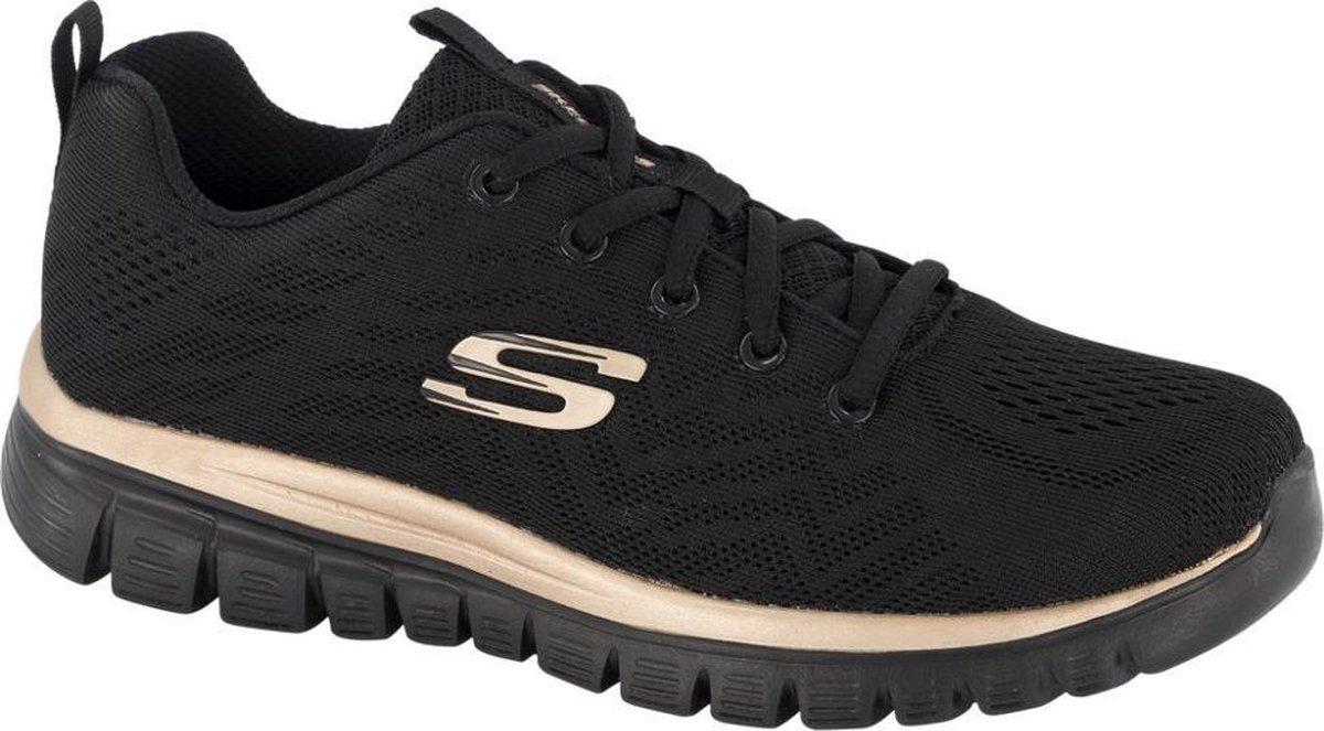 Skechers Graceful Get Connected Dames Sneakers - Zwart - Maat 40