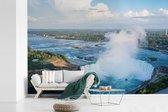 Fotobehang vinyl - Luchtfoto van de Niagarawatervallen breedte 390 cm x hoogte 260 cm - Foto print op behang (in 7 formaten beschikbaar)