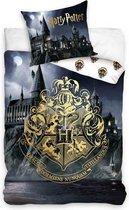 Harry Potter - Dekbedovertrek - Eenpersoons - 140x200 cm - Multi kleur