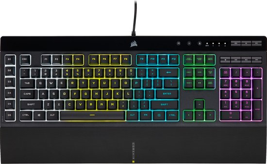 Corsair K55 RGB Pro Membraam Qwerty Gaming Toetsenbord - Zwart