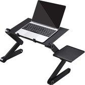 Laptop standaard Verstelbaar Universeel - Laptoptafel - Geschikt voor thuiswerken - Laptopstandaard Opvouwbaar - Zwart
