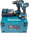 Makita DLX2127MJ Combiset - DDF482 18v Boor-/schroefmachine + DTD152 slagschroevendraaier 4,0 Ah accu (2 st), snellader, Mbox