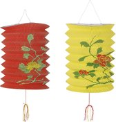 360 DEGREES - Rood en gele Chinese lantaarns - Decoratie > Slingers en hangdecoraties