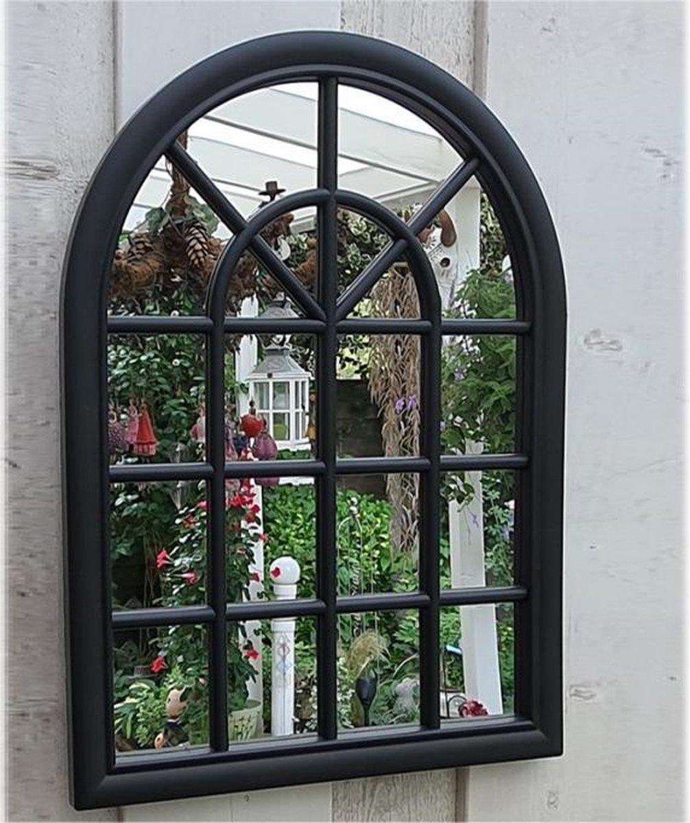 Tuinspiegel Gotische Buitenspiegel, Kerkraam, tuin spiegel met frame, wandspiegel 60 x 46cm, per stu