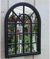 Tuinspiegel Gotische Buitenspiegel, Kerkraam, tuin spiegel met frame, wandspiegel 60 x 46cm, per stuk geleverd